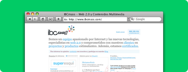 IBCmass. Front-end para IBCmass